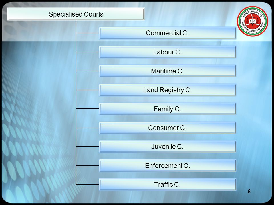 8 Specialised Courts Commercial C. Labour C. Maritime C.