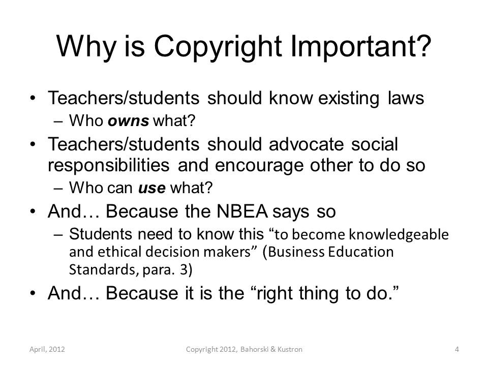 What Gives us the Right of Copyright.