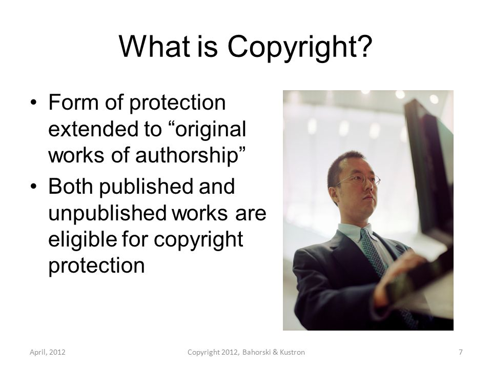 What is Copyright.