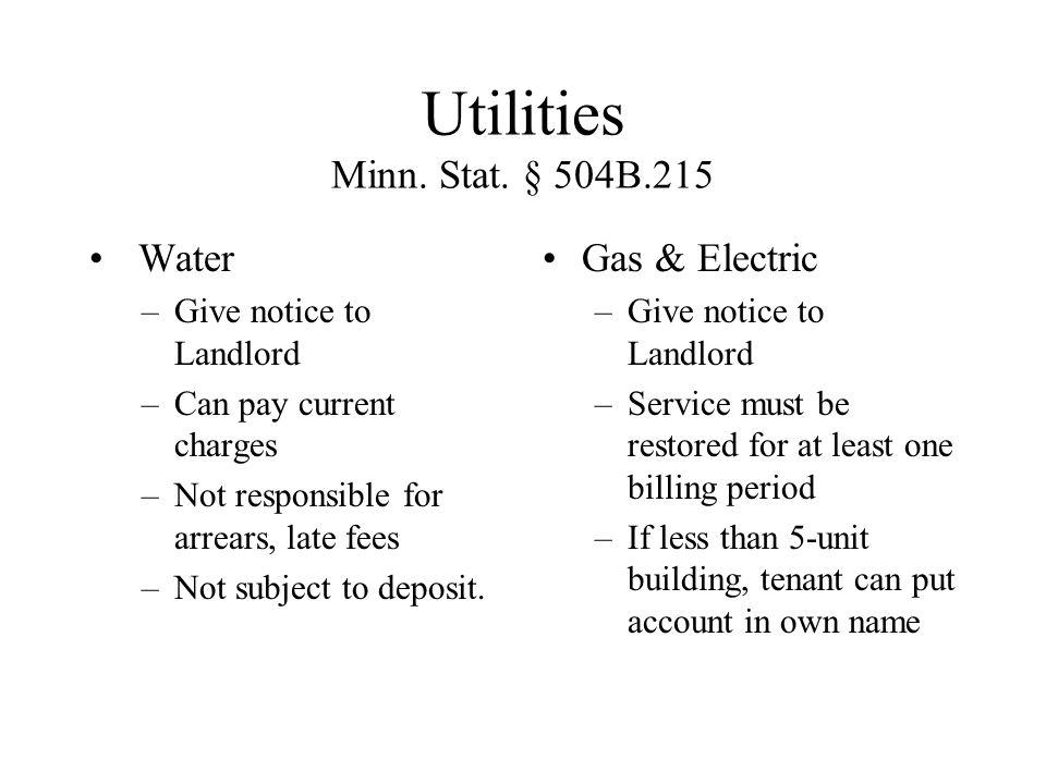 Utilities Minn. Stat.