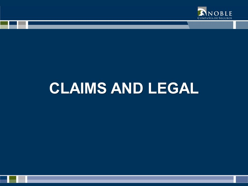 CLAIMS AND LEGAL