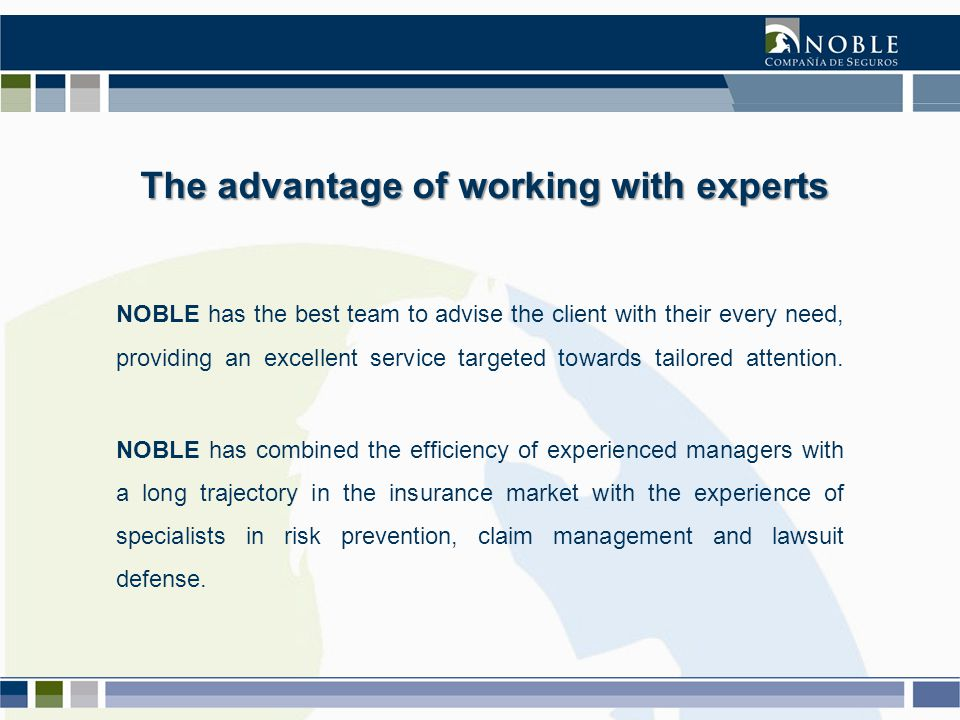 NOBLE has the latest Insurance System in the market.