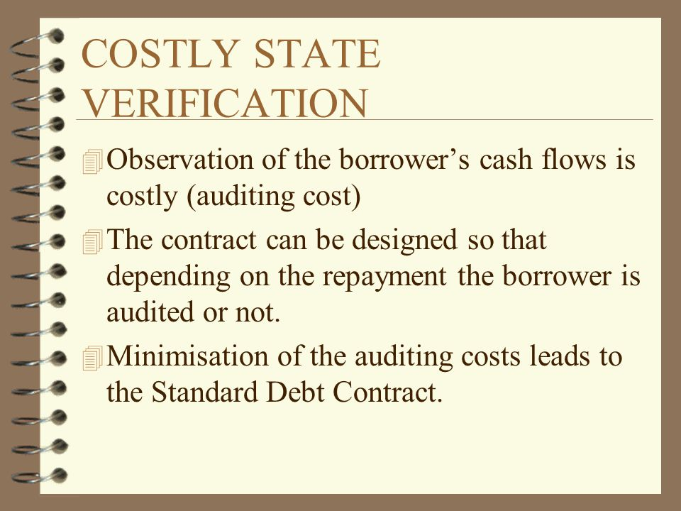 SOVEREIGN DEBT(I) 4 A simple model (Allen 1983) 4 The country's profit are: