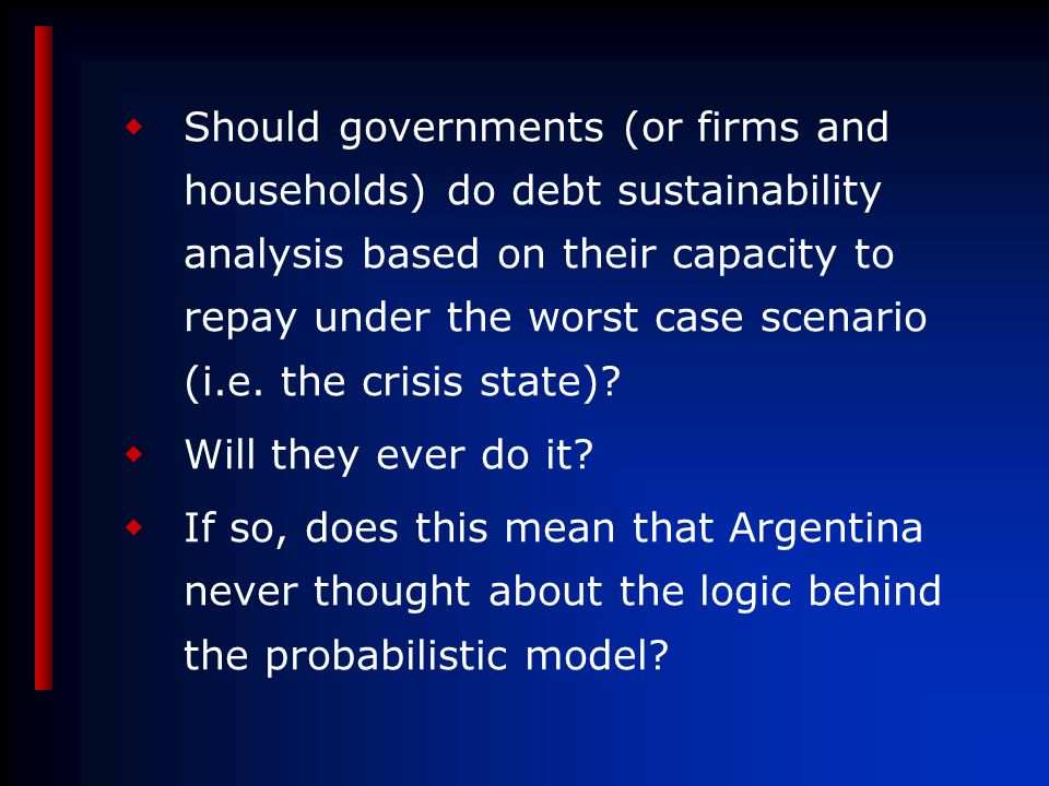 ASSESSING FISCAL SUSTAINABILITY: A NEW APPROACH Enrique G.