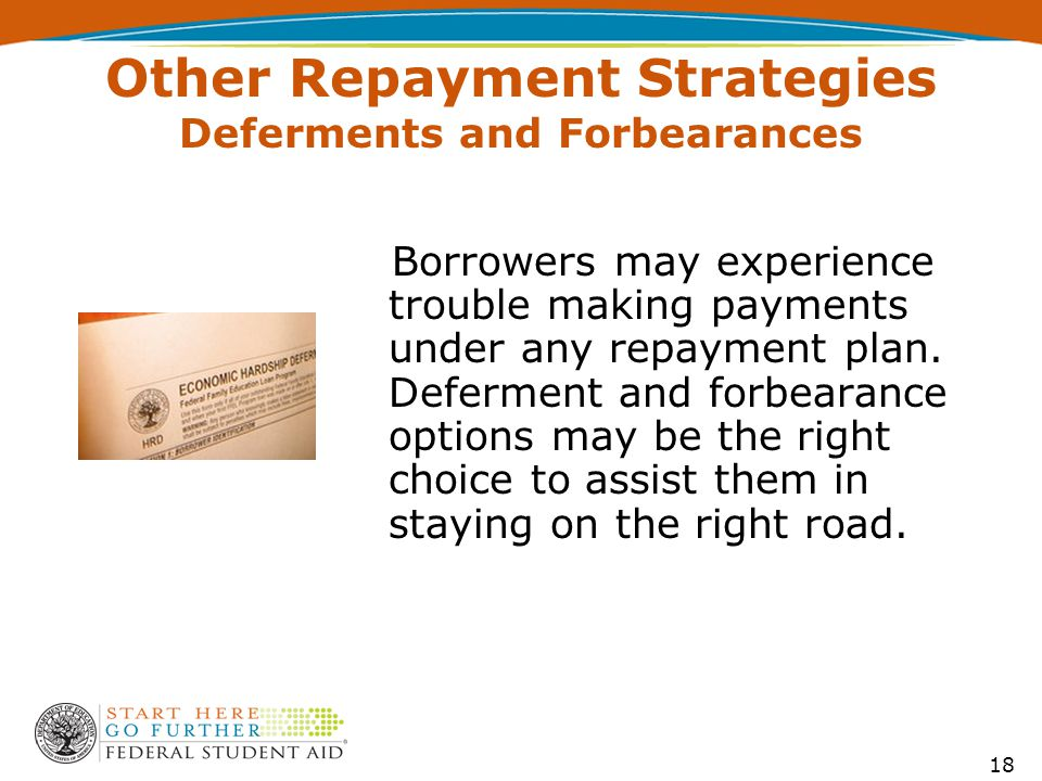 Rest Stop 2 Miles Borrowers may experience trouble making payments under any repayment plan.