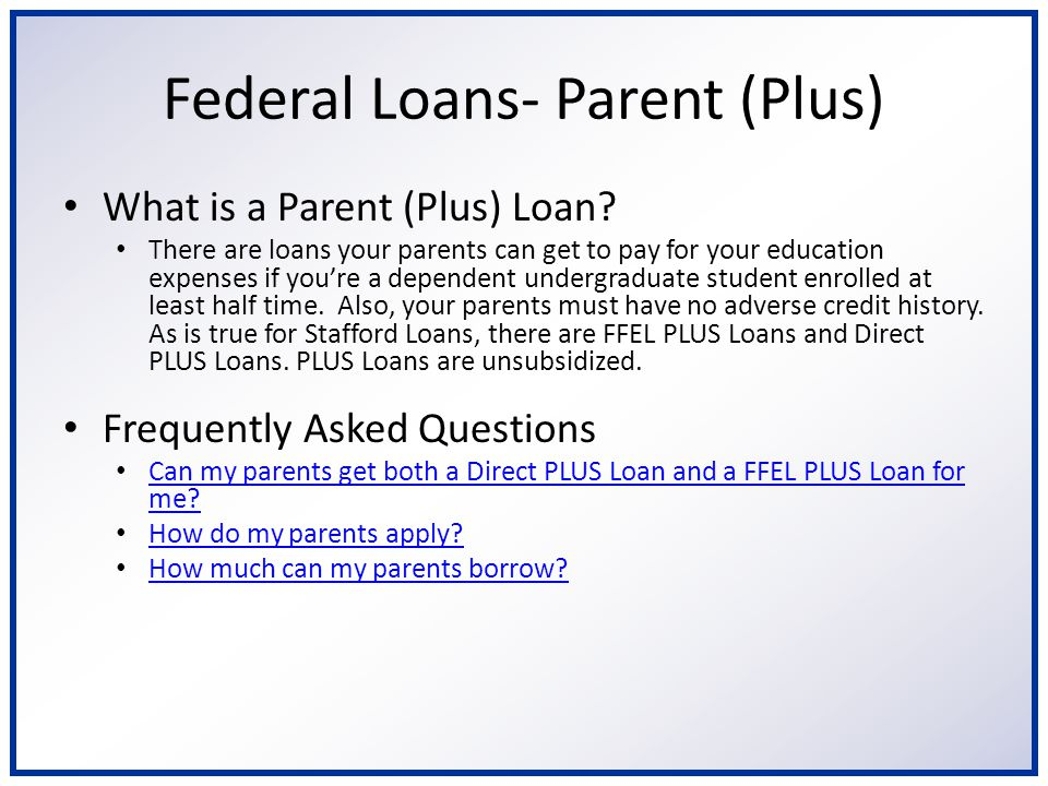 Private Loans What are private loans.