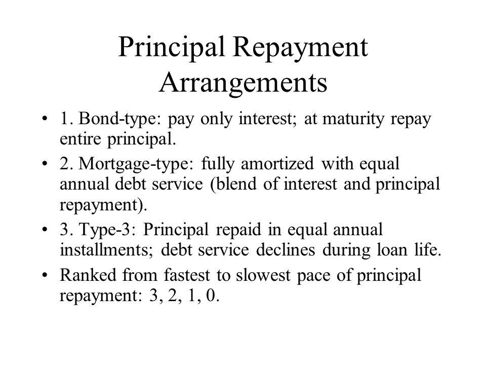 Principal Repayment Arrangements 1.