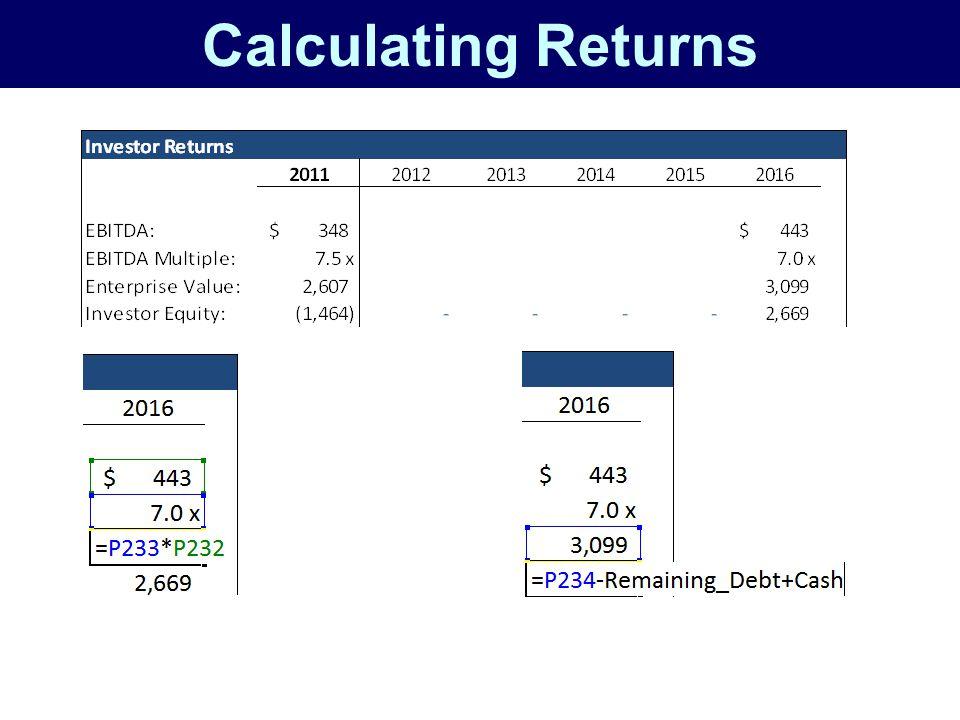 Calculating Returns