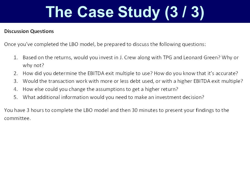 The Case Study (3 / 3)