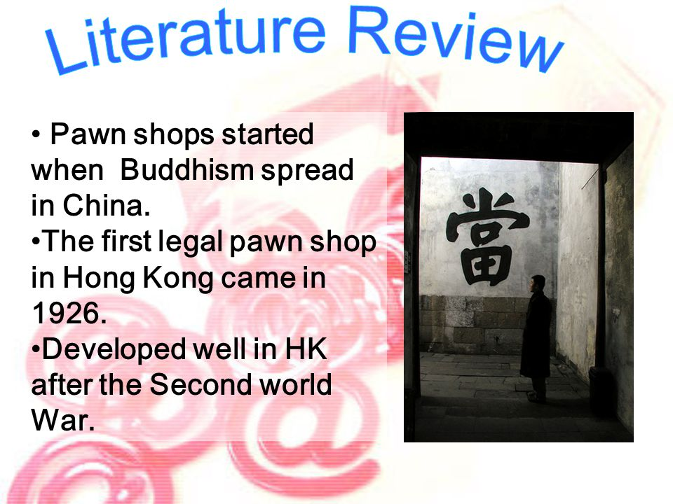 Pawn shops started when Buddhism spread in China.