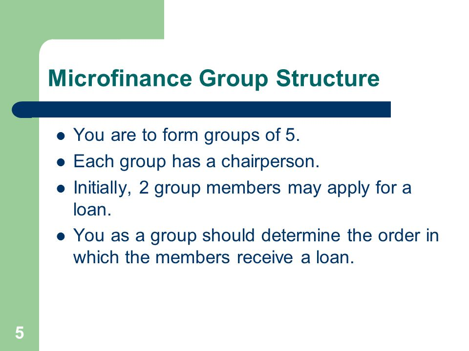 16 Repaying the Loan You will make weekly repayments of equal amounts over the repayment period.