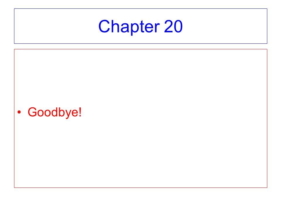 Chapter 20 Goodbye!
