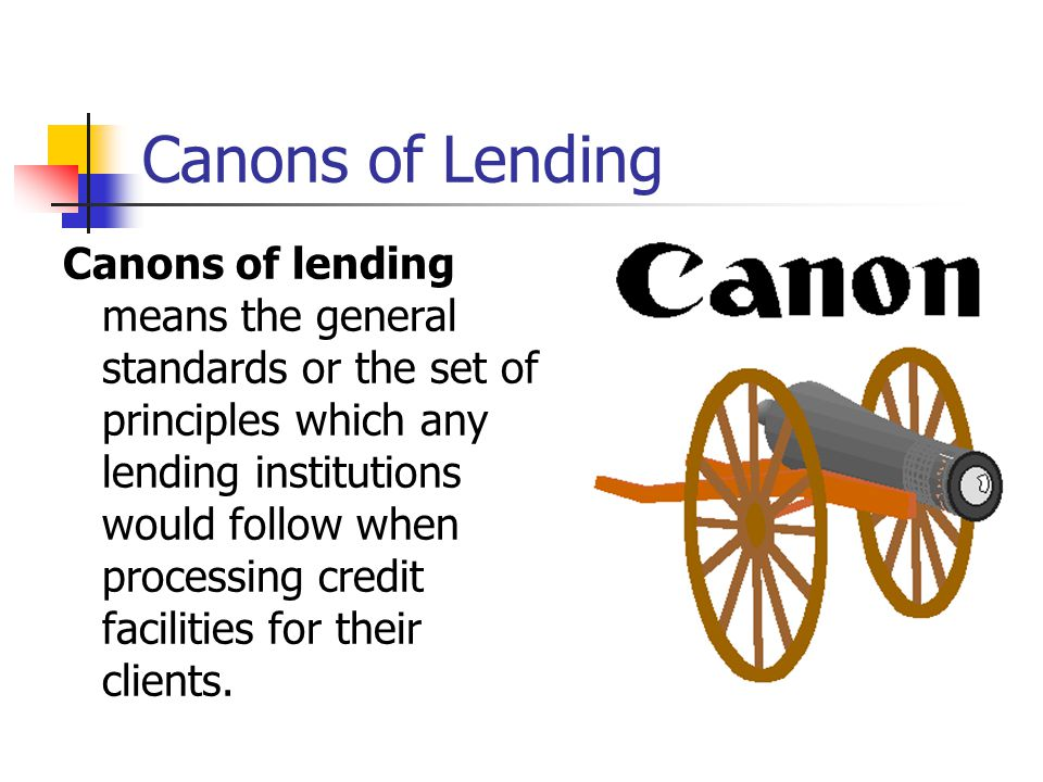 Purpose of the credit The borrowing customer has to disclose to his banker the object of the borrowing.