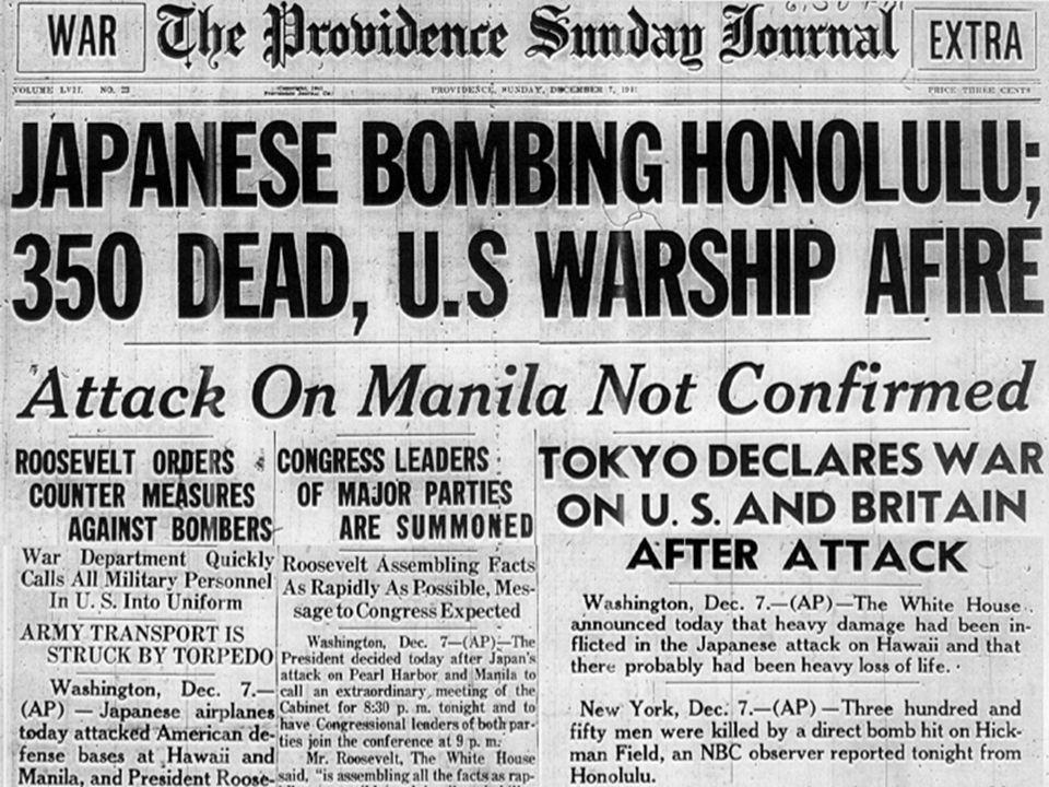 On Dec 7, 1941, the U.S.
