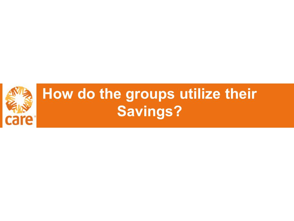 How do the groups utilize their Savings?