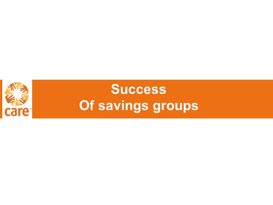 Success Of savings groups