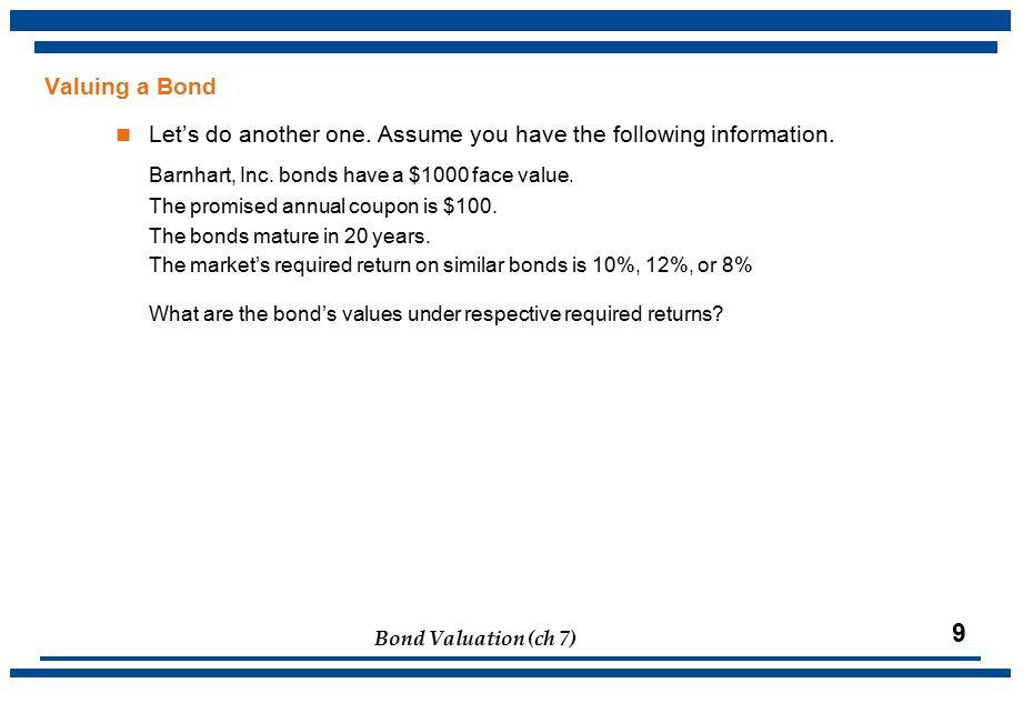 Bond Valuation (ch 7) 20 U.S. Interest Rates: 1800-1997 (Fig. 7.5)
