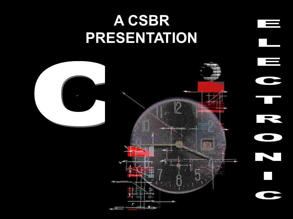 A CSBR PRESENTATION