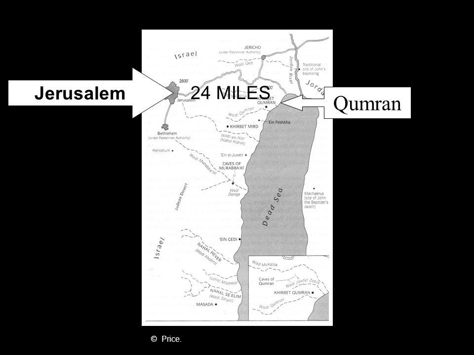 Qumran Jerusalem © Price. 24 MILES