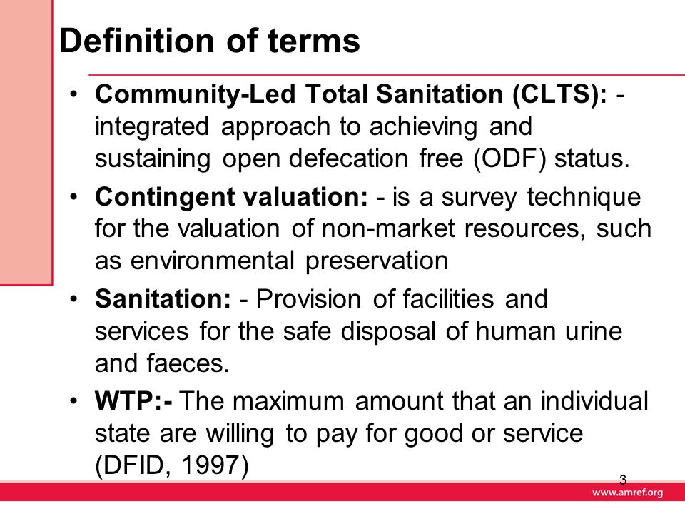 Recommendations Development of a variety of sanitation loan products and repayment tariffs responding to socio-economic and geographical differences in the area.