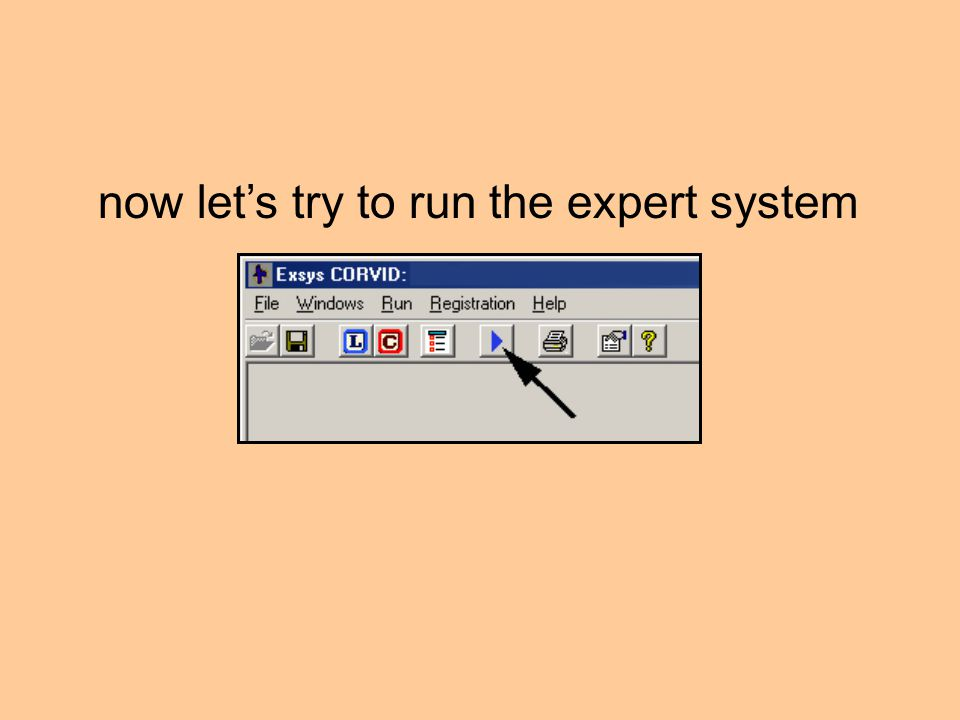 now let's try to run the expert system