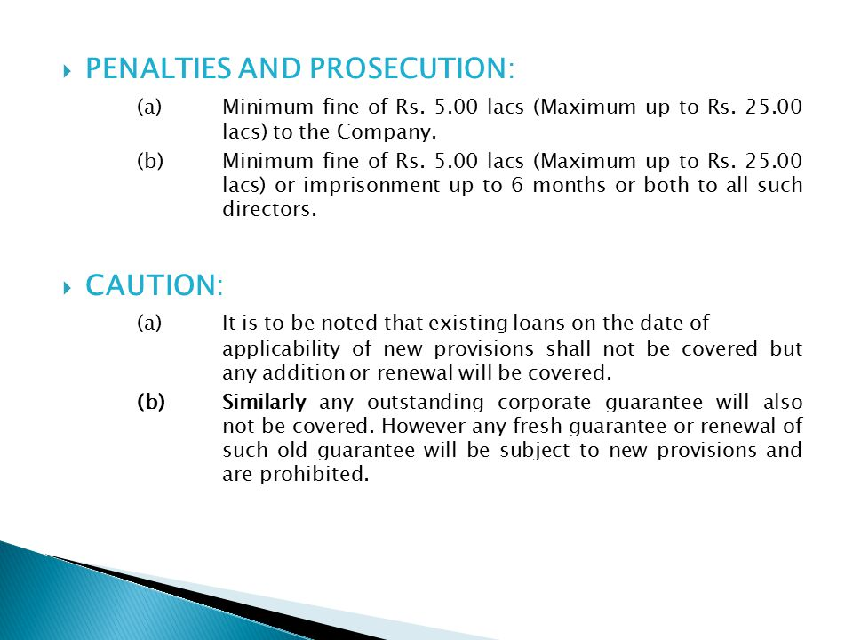 PENALTIES AND PROSECUTION: (a)Minimum fine of Rs.