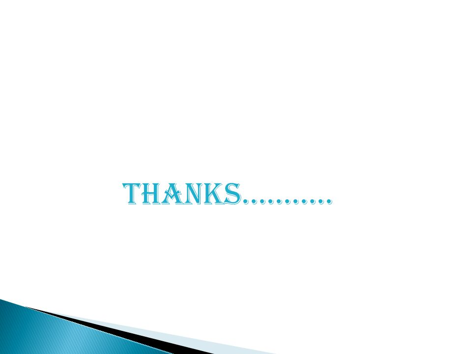 Thanks………..