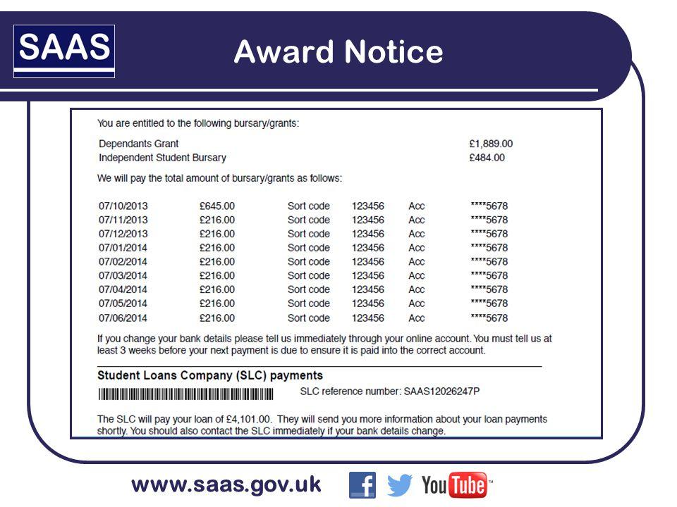 www.saas.gov.uk Award Notice