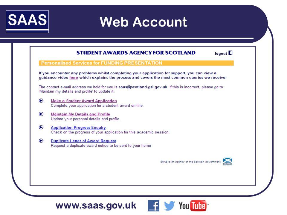 www.saas.gov.uk Web Account
