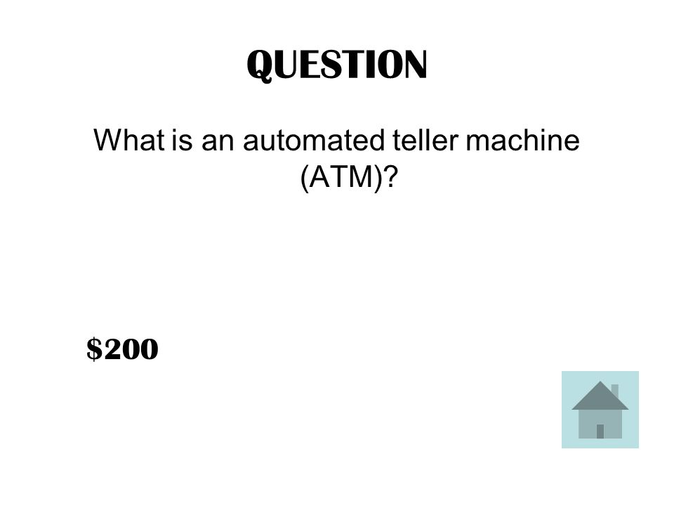 ANSWER Electronic computer terminals which offer automated, computerized banking.
