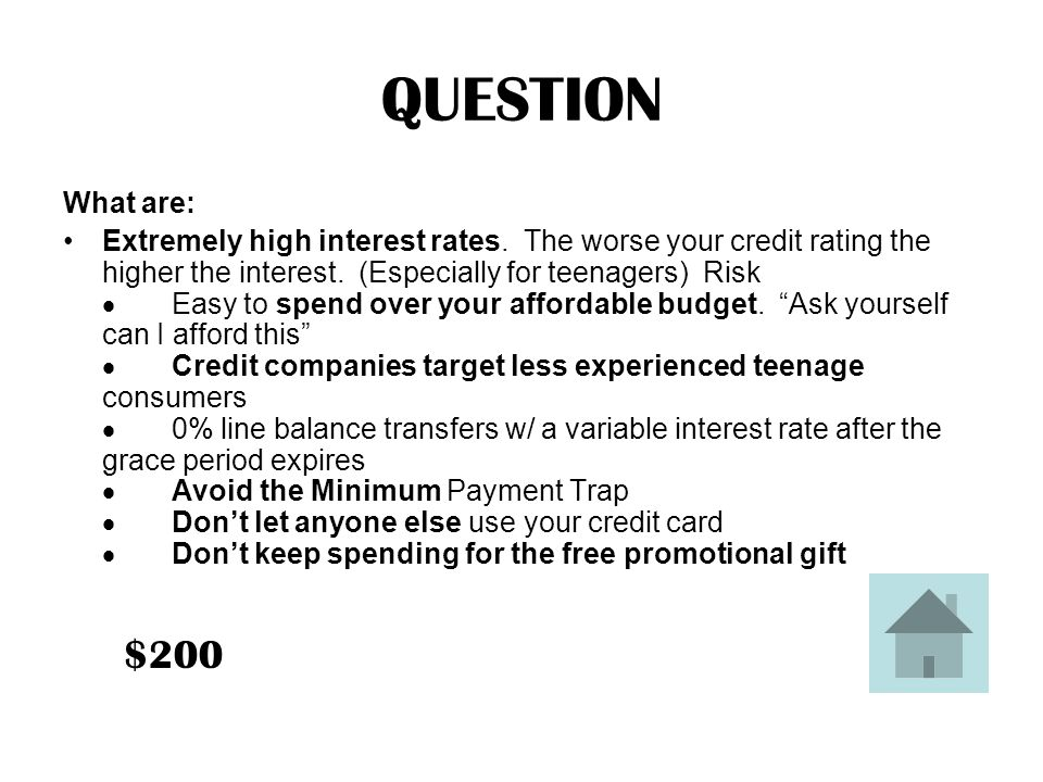 ANSWER Three dangers of using credit