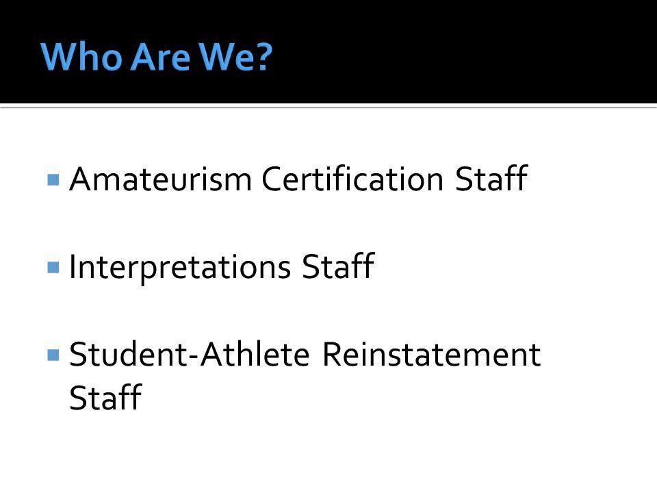 ACPInterpretations ACP Subcommittee for Legislative Relief Student- Athlete Reinstatement