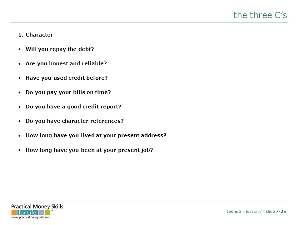 reading a credit card statement teens 2 – lesson 7 - slide 7-4e