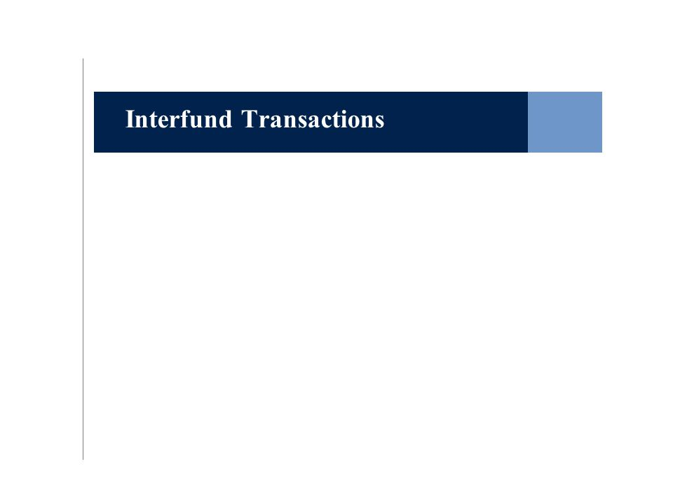 Interfund Transactions
