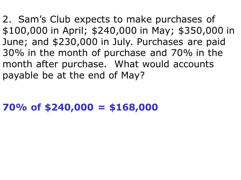 70% of $240,000 = $168,000