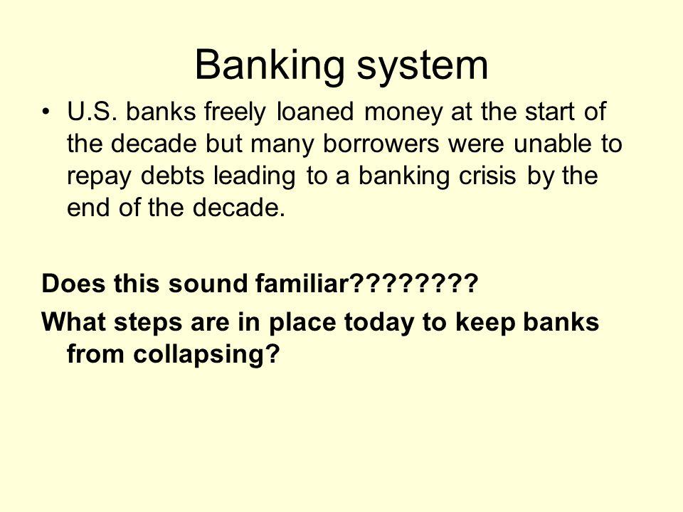 Banking system U.S.
