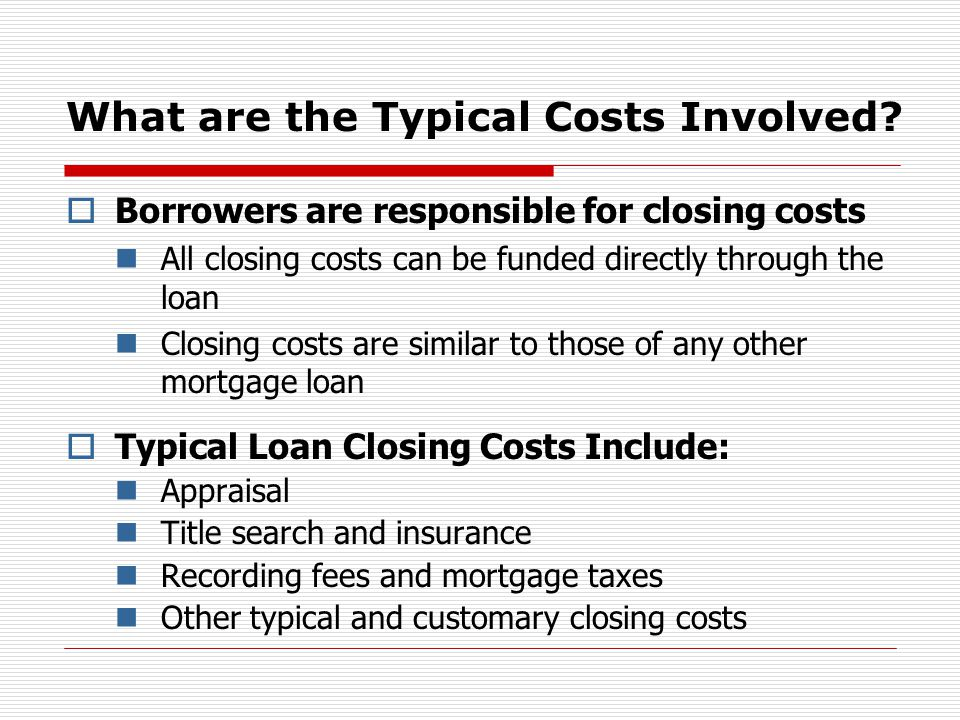 What are the Typical Costs Involved.