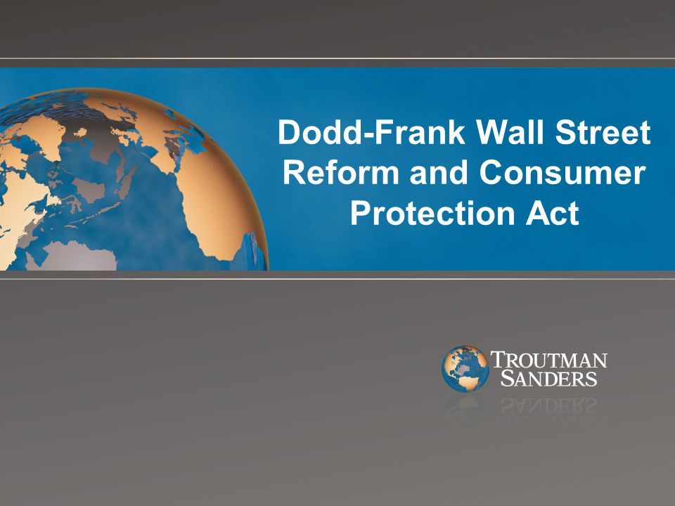 Title XIV – Mortgage Reform and Anti-Predatory Lending Act New duties are placed on mortgage originators to act in the best interest of consumers, to ensure that consumers will be able to repay mortgage loans Implementation: Title XIV and regulations to be issued by the Federal Reserve Board will be designated laws under the jurisdiction of the new consumer financial protection bureau Title XIV creates: Two new federal causes of action against originators and lenders; At least one new (and interesting) investment opportunity