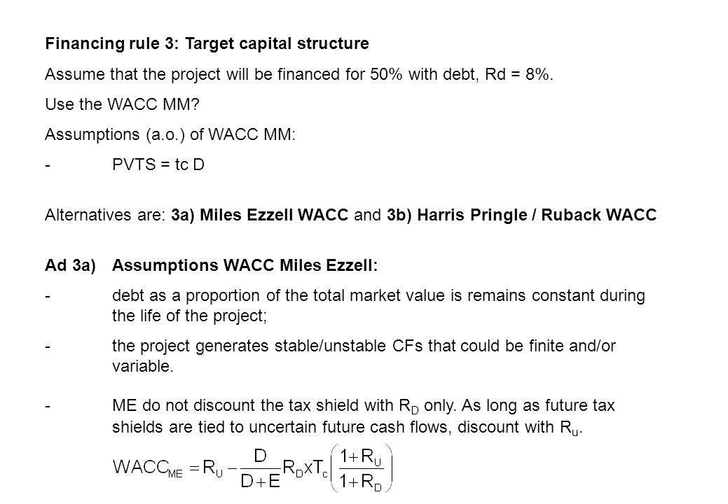 NPV WACC ME = -I + EBIT t (1-t c )/(1+WACC ME ) t NPV = 4,090.34 – 4,000 = 90.34 WACC method (textbook) Inselbag, I.