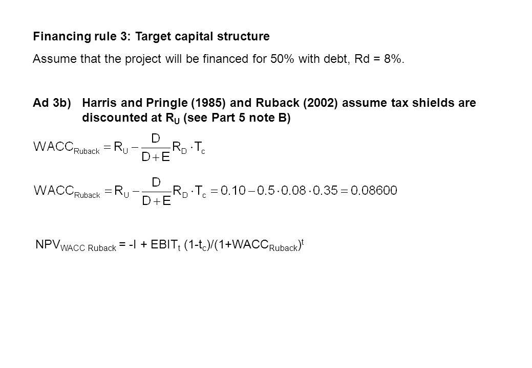 NPV = 4,087.57 - 4,000 = 87.57 WACC method (textbook)