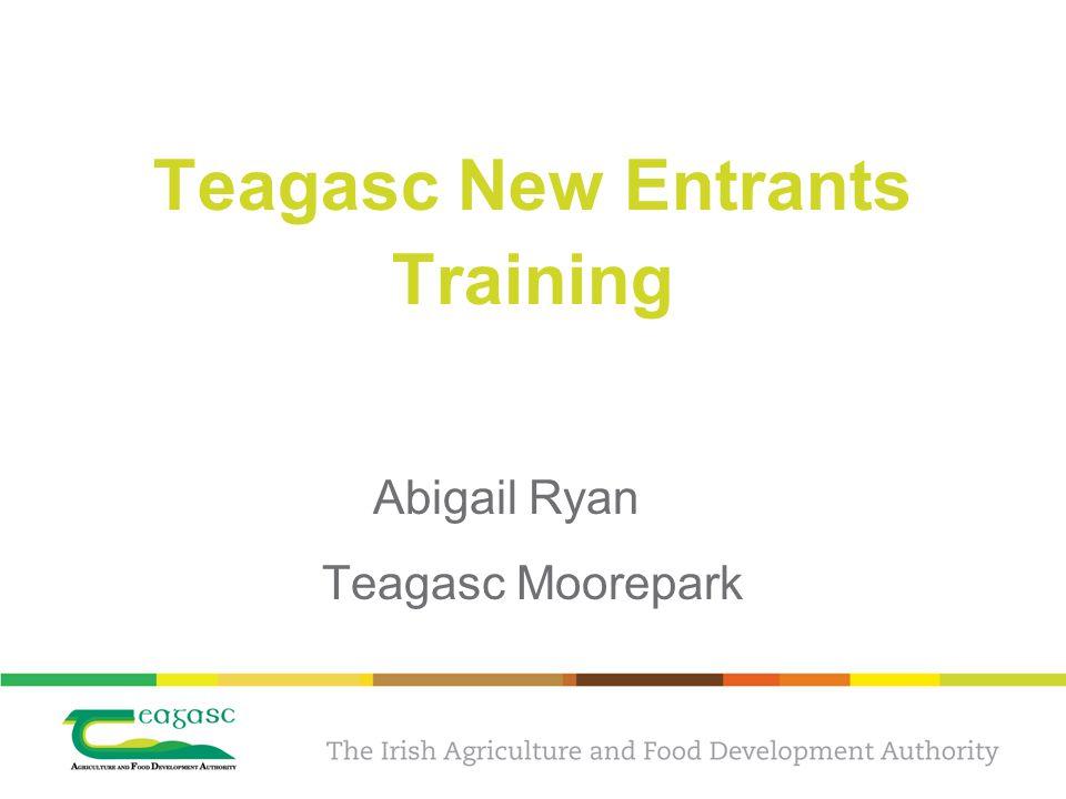 Teagasc New Entrants Training Abigail Ryan Teagasc Moorepark