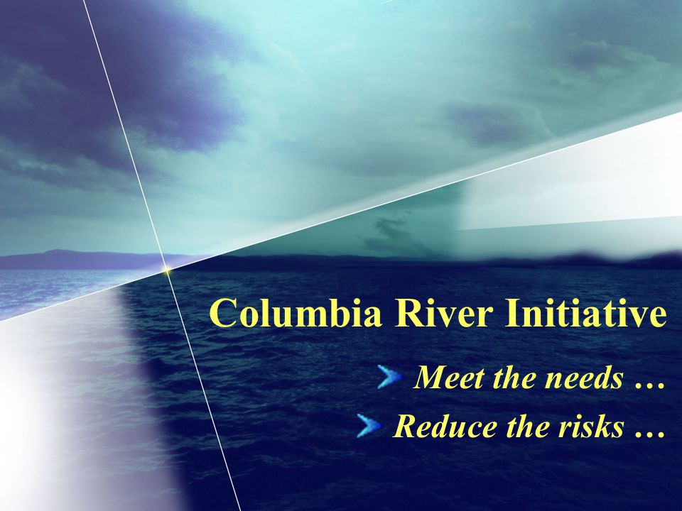 Columbia River Initiative Meet the needs … Reduce the risks …