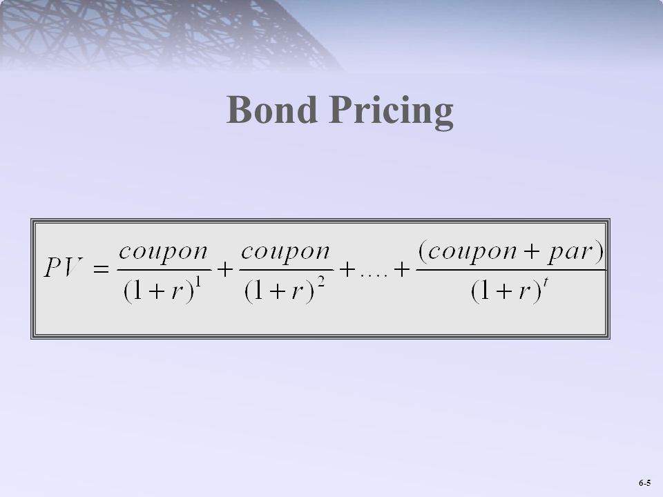 6-5 Bond Pricing