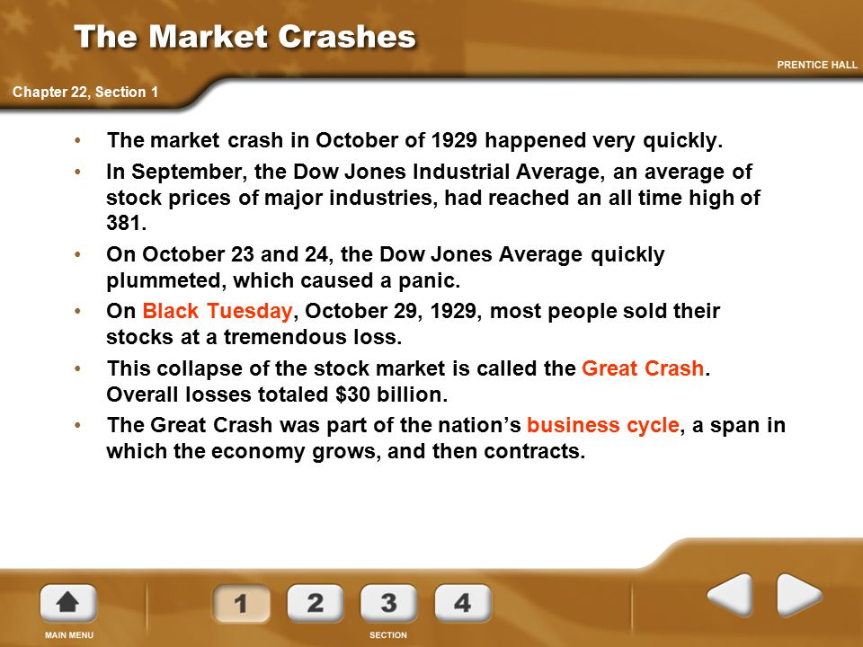 Great Crash Investors Businesses and Workers Investors lose millions.