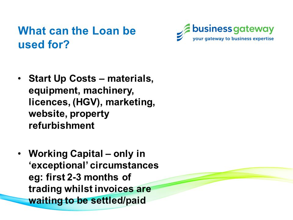 What can the Loan be used for.