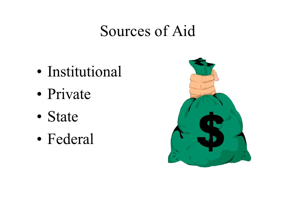 Sources of Aid Institutional Private State Federal