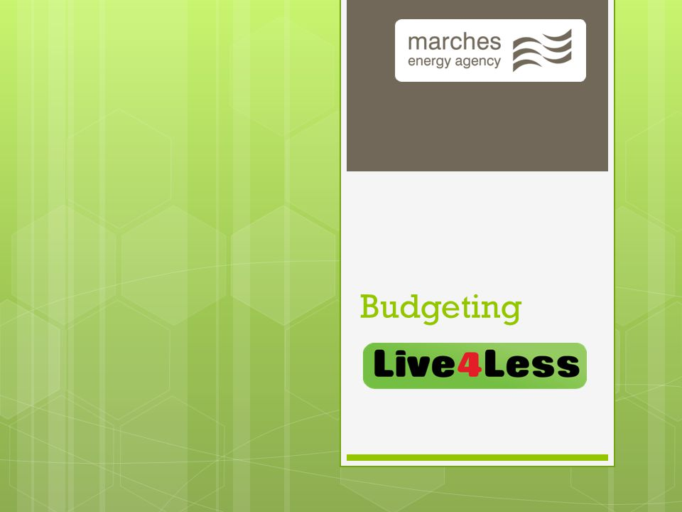 May 7, 2015 12 Budgeting These are priority