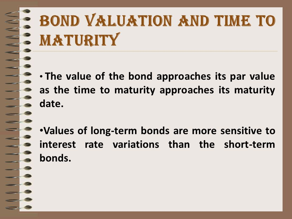 Coupon Rate, YTM, Bond Value, and Par Value If YTM =Coupon Rate,then Bond value = Par Value If YTM Par Value If YTM > Coupon Rate,then Bond value< Par Value