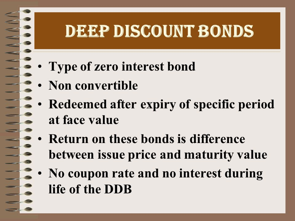 Floating Rate Bonds Coupon rate of these bonds is tied to some benchmark Eg coupon rate =Bank rate +2% Not popular in India