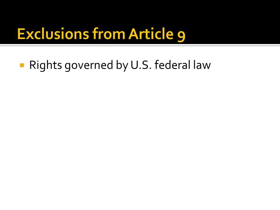  Rights governed by U.S. federal law